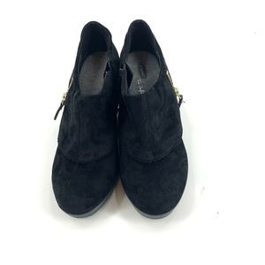 Dr. Scholl's Shoes - Dr Scholls Wedge Booties Size 9 Black Suede Shoes